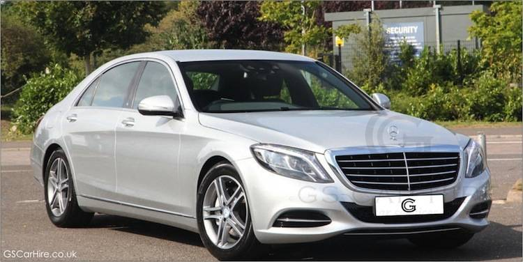 Mercedes S Class Chauffeur Car in Silver