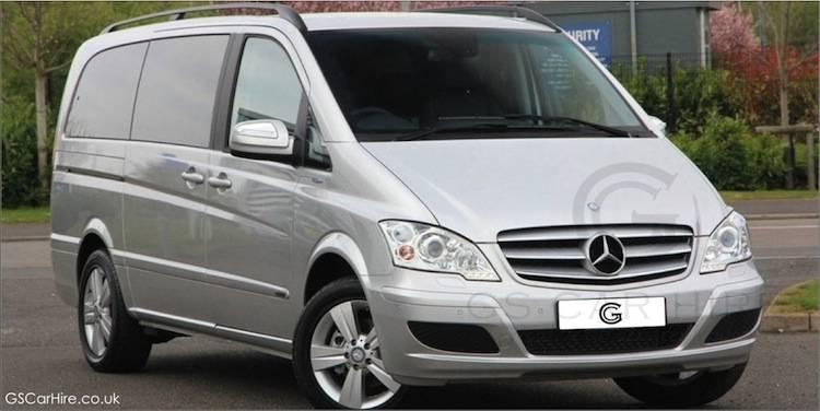 Mercedes Viano V Class Chauffeur MPV in Silver